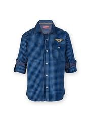 Gini & Jony Boys Blue & Black Checked Shirt