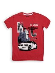 GJ Unltd Jeans by Gini and Jony Boys Red Printed T-shirt