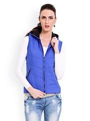 Gipsy Women Blue Sleeveless Jacket