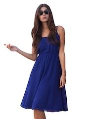 Girls On Film Blue Fit & Flare Dress