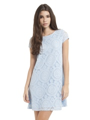 Girls On Film Blue Lace Shift Dress