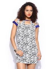 Girls On Film White & Black Printed Shift Dress