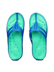 Gliders Men Blue & Green Flip-Flops