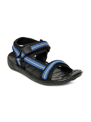 Gliders Men Black & Blue Fighter-N Sandals