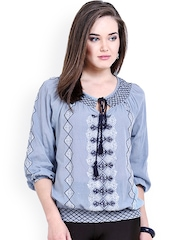 Global Colours Women Blue Top