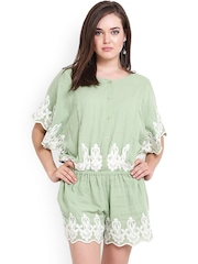 Global Colours Women Green Playsuit