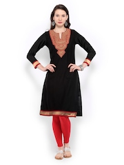 Global Desi Women Black Kurta
