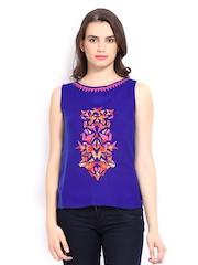 Global Desi Women Blue Top