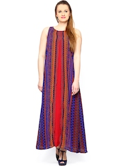 Global Desi Multicoloured Maxi Dress