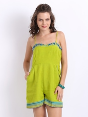 Global Desi Women Green Jumpsuit