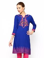Global Desi Women Blue Kurta