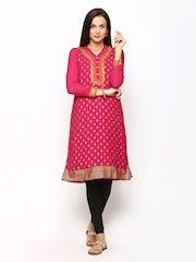 Global Desi Women Pink Printed Kurta