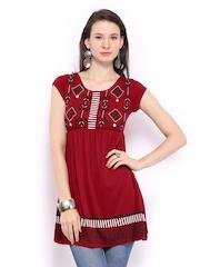 Global Desi Women Maroon Tunic
