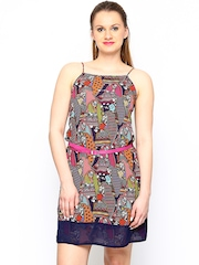 Global Desi Women Multicoloured Printed Tailored Dress