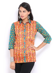 Global Desi Women Multicoloured Printed Top