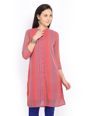 Global Desi Women Pink Printed Kurta