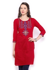 Global Desi Women Red Kurta