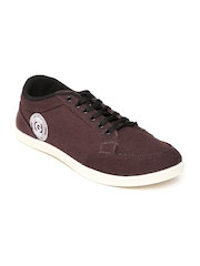 Globalite Men Burgundy Canvas Shoes
