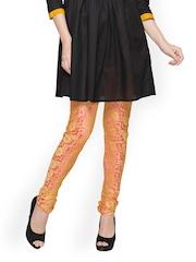 Globus Women Pink & Golden Churidar Leggings