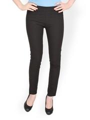 Women Black Skinny Fit Formal Trousers Globus