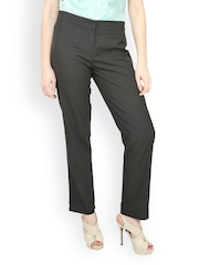 Women Grey Formal Trousers Globus