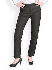 Women Black Formal Trousers Globus