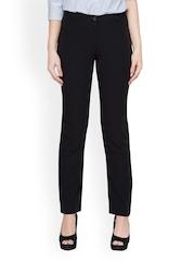 Globus Women Black Slim Fit Formal Trousers