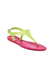 Go Bahamas Women Green & Pink Lemon Drop Sandals