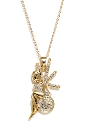 Golden Peacock Gold-Plated Pendant with Chain
