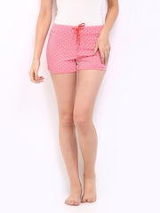 Gossip Women Pink Printed Lounge Shorts Knit22