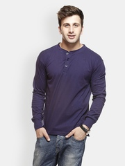 Gritstones Men Blue T-shirt