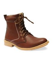 Guava Men Brown Faux Leather Boots