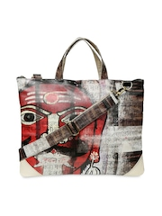 Gypsy Soul Unisex Beige Printed Laptop Bag