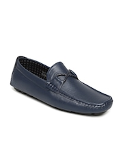 HARRY HILL Men Navy Loafers
