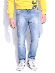 HARVARD Men Indigo Slim Tapered Fit Scholars Signature Jeans