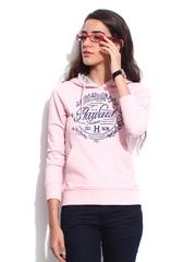 Women Pink Reunion Hooded Sweatshirt Harvard
