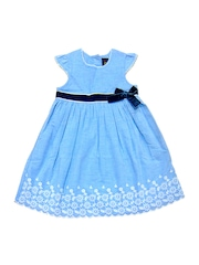 HERBERTO Girls Blue Fit and Flare Dress