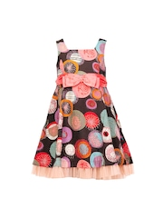 HERBERTO Girls Multi-Coloured Printed Fit and Flare Dress