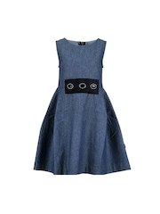 HERBERTO Girls Blue Fit & Flare Dress