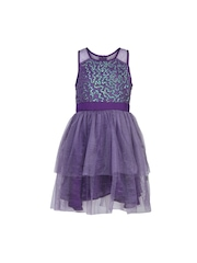 HERBERTO Girls Purple Fit & Flare Dress