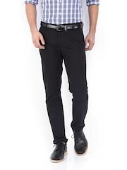 HIGHLANDER Men Black Slim Fit Casual Trousers