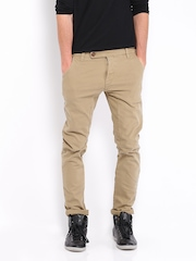 HRX Men Beige Overdyed Jeans