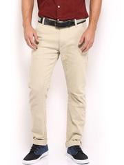 HRX Men Beige Trousers
