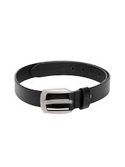 HRX Men Black Leather Belt