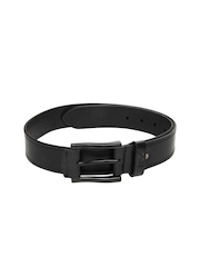 HRX Men Black Leather Belt