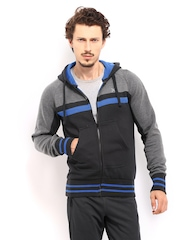 HRX Men Charcoal Grey Active Hooded Sweatshirt