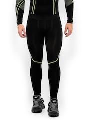HRX Men Sports Active Grey/Black Performance Compression Tights