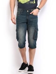 HRX Men Blue 3/4th Length Shorts