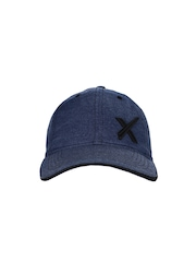 HRX Men Blue Melange Casual Cap