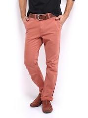 HRX Men Dusky Pink Chino Trousers